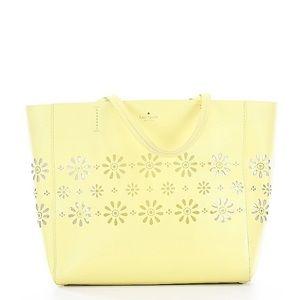 Yellow Kate spade leather bag